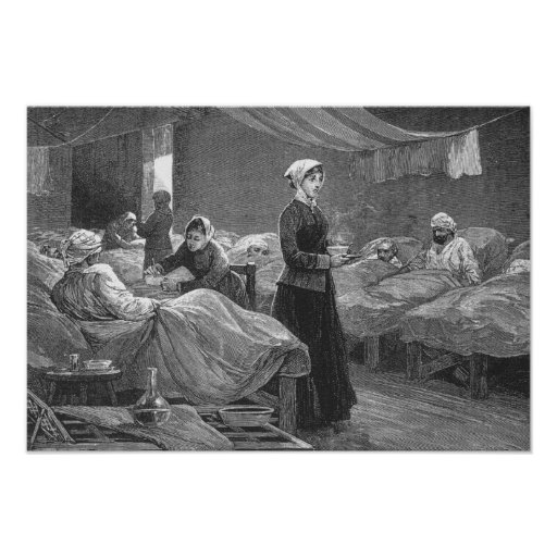 Srta. Nightingale en el hospital del cuartel Póster