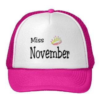 Srta. noviembre gorro de camionero