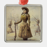 Srta. occidental Annie Oakley de la vaquera del vi Ornamento Para Arbol De Navidad