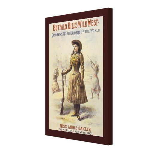 Srta. occidental Annie Oakley de la vaquera del vi Impresión En Lona