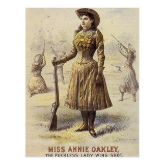 Srta. occidental Annie Oakley de la vaquera del vi Postal