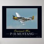 Srta. P-51 Mustang Poster de Cincinnati