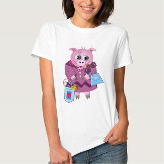 Srta. Piggy ama el hacer compras Camisas