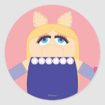 Srta. Piggy de Pook-a-Looz Etiqueta Redonda