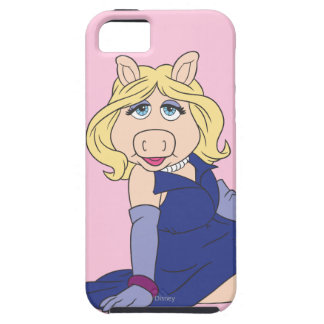 Srta. Piggy en vestido púrpura iPhone 5 Case-Mate Protectores