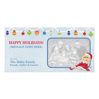 Srta. Piggy Holiday Photo Card Tarjeta Con Foto Personalizada