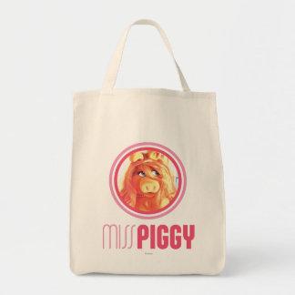 Srta. Piggy Model Bolsa Lienzo