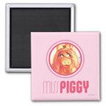 Srta. Piggy Model Imán Cuadrado