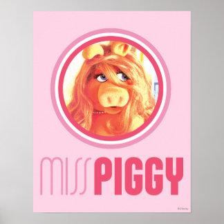 Srta. Piggy Model Póster