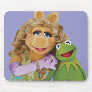 Srta Piggy y Kermit Alfombrillas De Raton