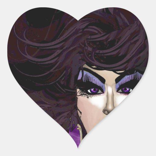 Srta. Priscilla Velvet:  Reina virtual Calcomanía De Corazón