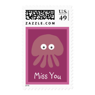 Srta. rosada linda You Custom de las medusas Sello