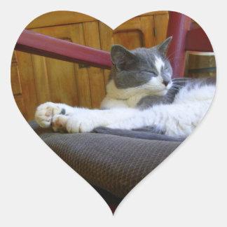 Srta. soñolienta Biscuit/pegatina del corazón Pegatina En Forma De Corazón