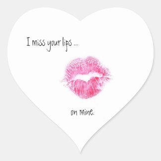 Srta. su pegatina de los labios