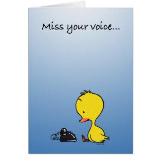 Srta. su voz… tarjeta de felicitación