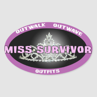 Srta. Survivor Stickers Pegatinas De Óval Personalizadas