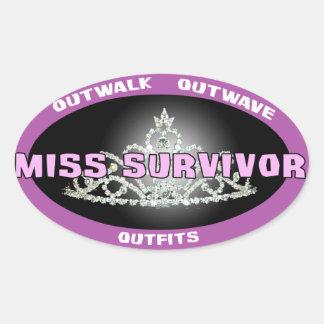 Srta. Survivor Stickers Pegatina Ovalada