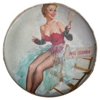 Srta. Sylvania Pin-Para arriba Girl