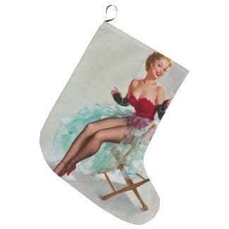 Srta. Sylvania Pin-Para arriba Girl Calcetín De Navidad Grande
