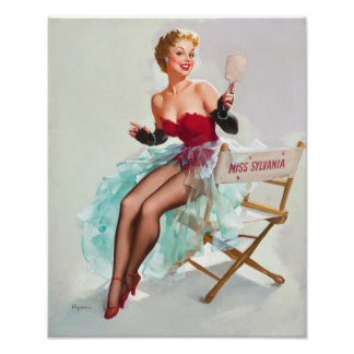 Srta. Sylvania Pin-Para arriba Girl Cojinete