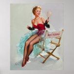 Srta. Sylvania Pin-Para arriba Girl Poster