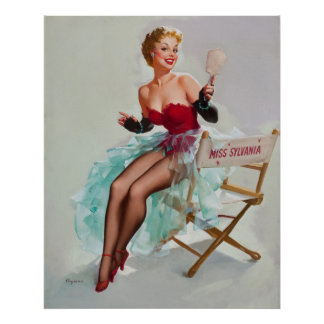 Srta. Sylvania Pin-Para arriba Girl Póster