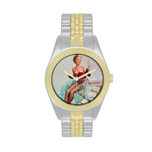 Srta. Sylvania Pin-Para arriba Girl Reloj