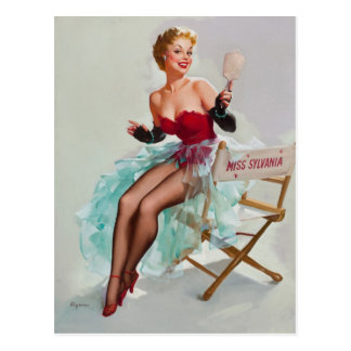 Srta. Sylvania Pin-Para arriba Girl Tarjetas Postales