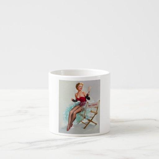 Srta. Sylvania Pin-Para arriba Girl Taza Espresso