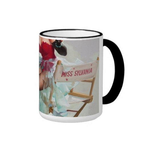 Srta. Sylvania Pin-Para arriba Girl Tazas De Café