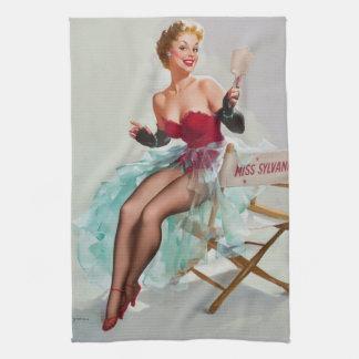 Srta. Sylvania Pin-Para arriba Girl Toallas
