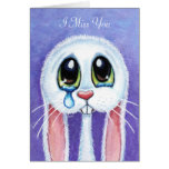 Srta. Teary triste You - Personalizable del conejo Tarjeta De Felicitación