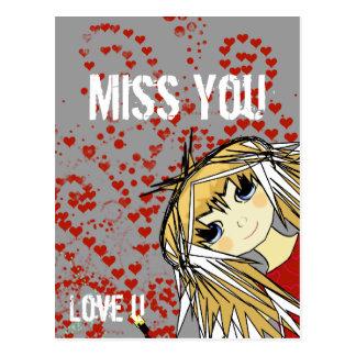 Srta. Usted-Amor U Valentine Postal