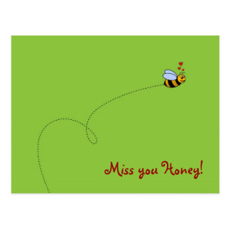 ¡Srta. usted miel! Postal