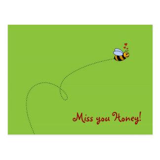 ¡Srta. usted miel! Tarjeta Postal