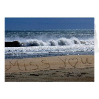 Srta. You Card Beach Tarjeta De Felicitación