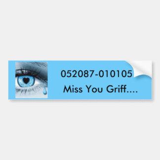 Srta. You Griff…., 052087-010105 Pegatina Para Auto