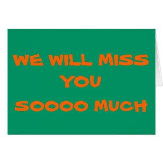 Srta. You>Plain Farewell Card Tarjeta De Felicitación
