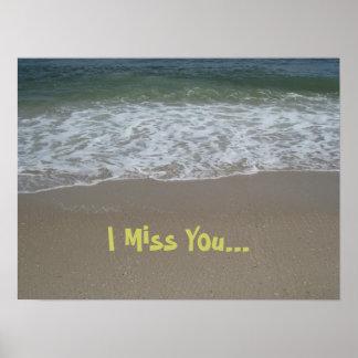 Srta. You Poster de la playa