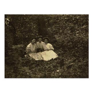 Srtas. Barshinger, Stabley y Zarfos circa 1904 Tarjetas Postales