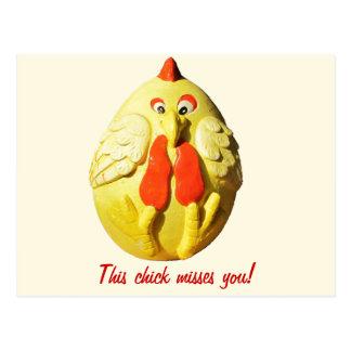 Srtas. You (pequeña fuente) de este polluelo Postales