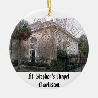 ss2, St. Stephen's ChapelCharleston Double-Sided Ceramic Round Christmas Ornament