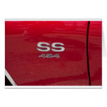 SS 454 side marker candy apple red Greeting Card