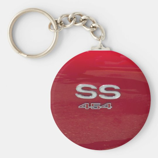 SS 454 side marker candy apple red Keychain