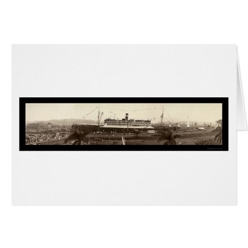SS Ancon In Panama Photo 1939 Cards