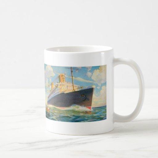 SS Bremen at Sea Classic White Coffee Mug