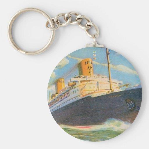 SS Bremen at Sea Key Chain