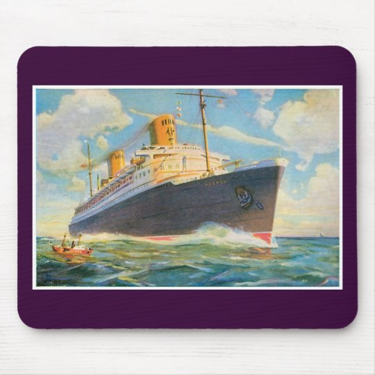 SS Bremen at Sea Mouse Pad