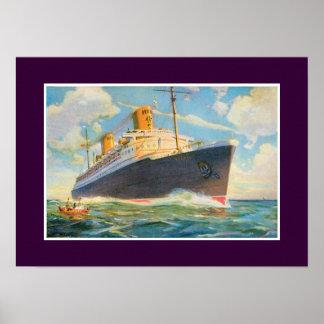 SS Bremen at Sea Posters