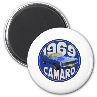 SS Camaro 1969 azul marino Imanes